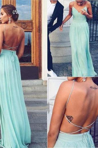 Backless Charming Prom Dresses, Floor-Length Evening Dresses,Prom Dresses,XC29