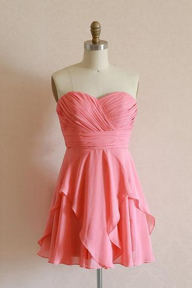 Short/Mini Chiffon bridesmaid dress, Chiffon bridesmaid dress, cheap bridesmaid dress,bridesmaid dresses,BS07