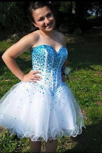 Sweetheart Beading Short Prom Dresses,Cocktail Dress,Graduation Dresses,Homecoming Dresses,XT303